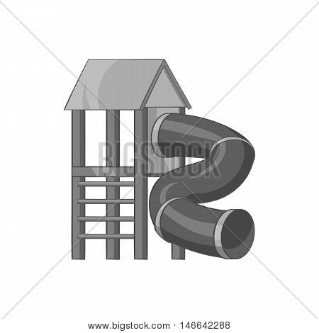 Slide pipe icon in black monochrome style on a white background vector illustration