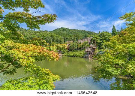 Hida Folk Village at Takayama Chubu Japan