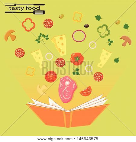 Tasty and healthy food for each day vector illustration
