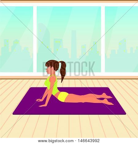 activity requiring physical effort carried out especially to sustain or improve health and fitness vector illustration
