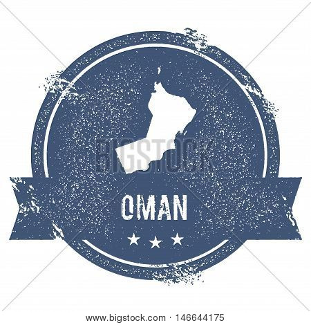 Oman Mark. Travel Rubber Stamp With The Name And Map Of Oman, Vector Illustration. Can Be Used As In