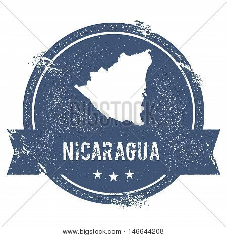 Nicaragua Mark. Travel Rubber Stamp With The Name And Map Of Nicaragua, Vector Illustration. Can Be