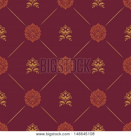 Wallpaper in royal baroque style. Background seamless royal baroque endless pattern renaissance damask vector pattern