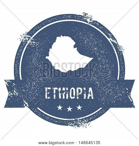 Ethiopia Mark. Travel Rubber Stamp With The Name And Map Of Ethiopia, Vector Illustration. Can Be Us
