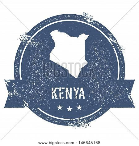 Kenya Mark. Travel Rubber Stamp With The Name And Map Of Kenya, Vector Illustration. Can Be Used As