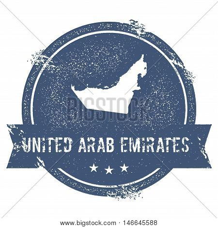 United Arab Emirates Mark. Travel Rubber Stamp With The Name And Map Of United Arab Emirates, Vector