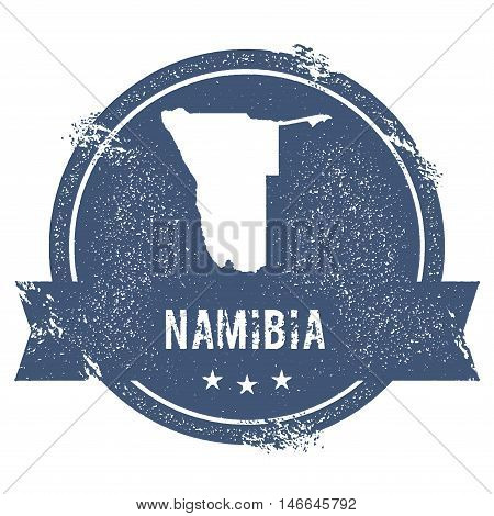 Namibia Mark. Travel Rubber Stamp With The Name And Map Of Namibia, Vector Illustration. Can Be Used