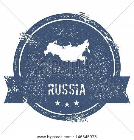 Russian Federation Mark. Travel Rubber Stamp With The Name And Map Of Russian Federation, Vector Ill