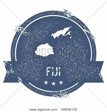 Fiji Mark. Travel Rubber Stamp With The Name And Map Of Fiji, Vector Illustration. Can Be Used As In