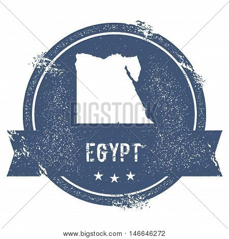 Egypt Mark. Travel Rubber Stamp With The Name And Map Of Egypt, Vector Illustration. Can Be Used As