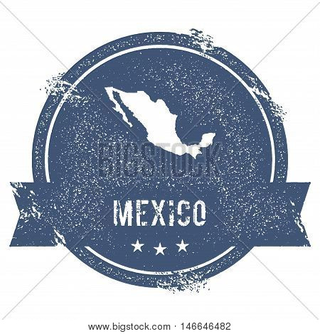 Mexico Mark. Travel Rubber Stamp With The Name And Map Of Mexico, Vector Illustration. Can Be Used A