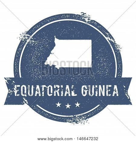 Equatorial Guinea Mark. Travel Rubber Stamp With The Name And Map Of Equatorial Guinea, Vector Illus