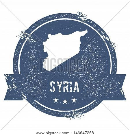 Syrian Arab Republic Mark. Travel Rubber Stamp With The Name And Map Of Syrian Arab Republic, Vector