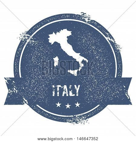 Italy Mark. Travel Rubber Stamp With The Name And Map Of Italy, Vector Illustration. Can Be Used As