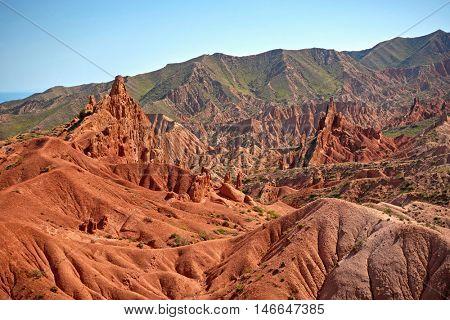 Fairy Tale Canyon (Skazka). Kyrgyzstan.
