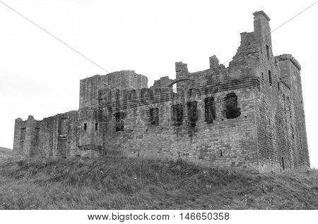 A view of the ruins of Crichton castle