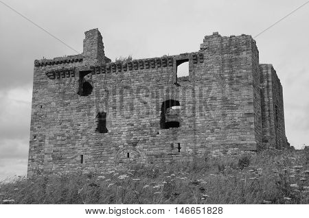An external view of the ruins of Crichton castle