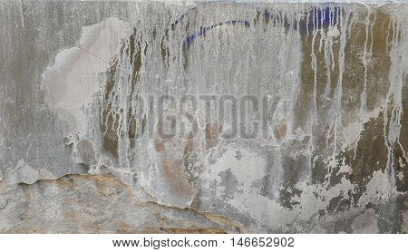Weathered and distressed wall with smudges texture for design