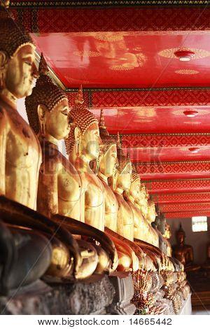 Linha de Budas, Wat Poh Tailândia