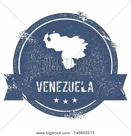 Venezuela, Bolivarian Republic Of Mark.. Travel Rubber Stamp With The Name And Map Of Venezuela, Bol