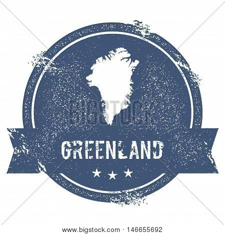 Greenland Mark. Travel Rubber Stamp With The Name And Map Of Greenland, Vector Illustration. Can Be