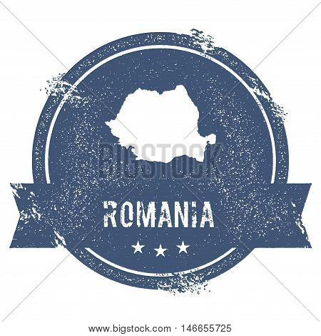 Romania Mark. Travel Rubber Stamp With The Name And Map Of Romania, Vector Illustration. Can Be Used