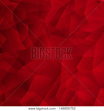 Crystal Design Modern Red Geometric Abstract Background