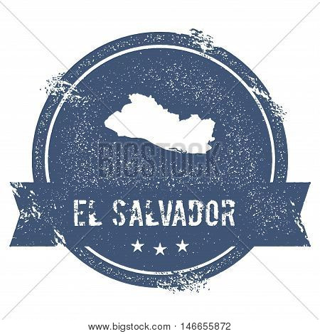 El Salvador Mark. Travel Rubber Stamp With The Name And Map Of El Salvador, Vector Illustration. Can