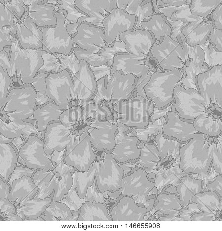 Seamless Floral Black And White Ornamental Crystal Pattern