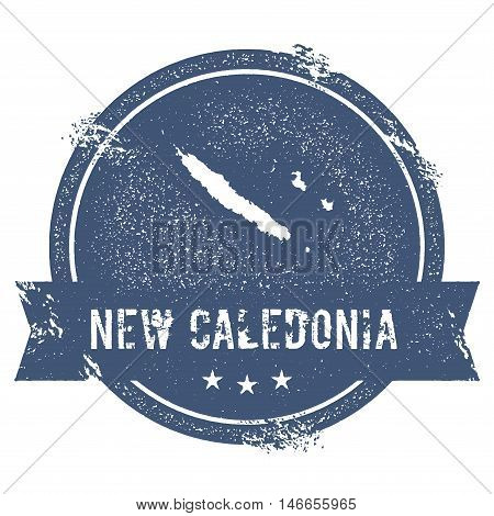 New Caledonia Mark. Travel Rubber Stamp With The Name And Map Of New Caledonia, Vector Illustration.