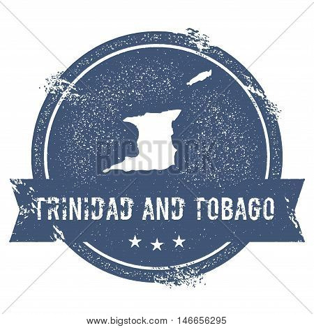 Trinidad And Tobago Mark. Travel Rubber Stamp With The Name And Map Of Trinidad And Tobago, Vector I