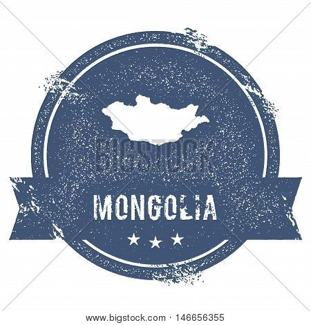 Mongolia Mark. Travel Rubber Stamp With The Name And Map Of Mongolia, Vector Illustration. Can Be Us