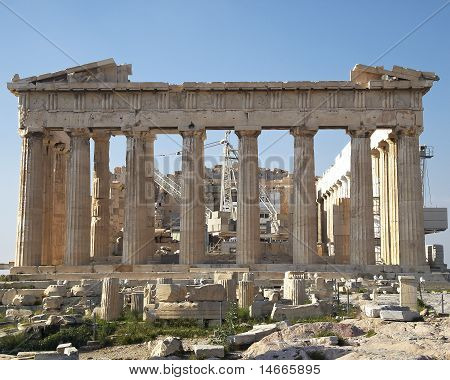 facade of Parthenon temple, Acropolis