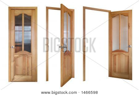 Three Wooden And Glass Doors