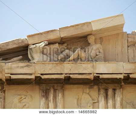 detail of Parthenon temple, Acropolis