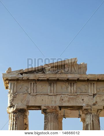 partial view of Parthenon, Acropolis