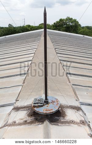 Lightning arrester system on the roof for protect sub station from the lightning