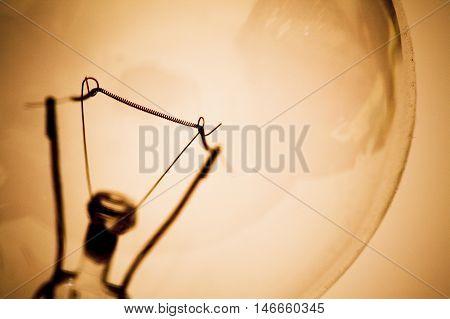 Light Bulb And Filament