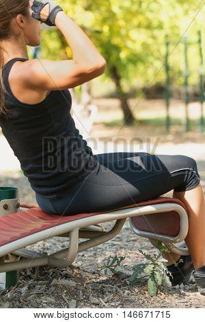 Female Doing Sit Ups