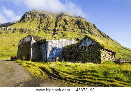 The nature of the Faroe Islands in the north Atlantic