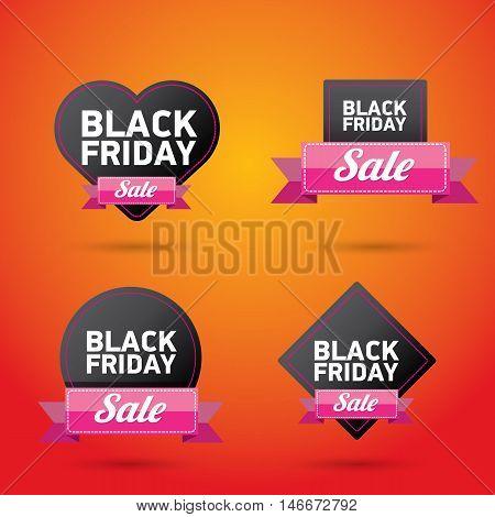 Black Friday sales tag. Black friday banner. vector illustration