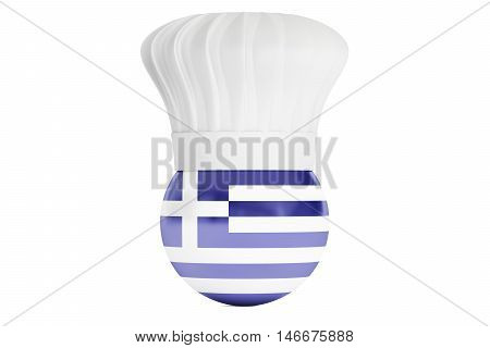 Greek cuisine concept 3D rendering  isolated on white background