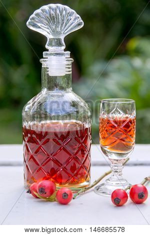 traditional tincture of rosehips - natural medicine