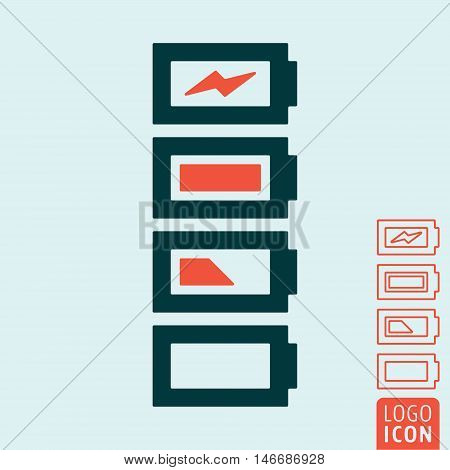 Battery icon. Battery charge level indicator. Vector illustration