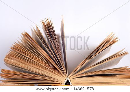 Open book isolated on white background. Back to school. Copy space