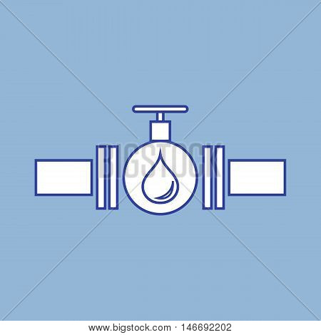 Stylized Icon Of The Pipe With A Valve And Fuel Drops