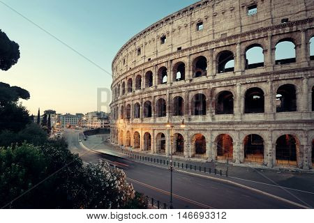 Colosseum is the symbolic architecture of Rome and Italy