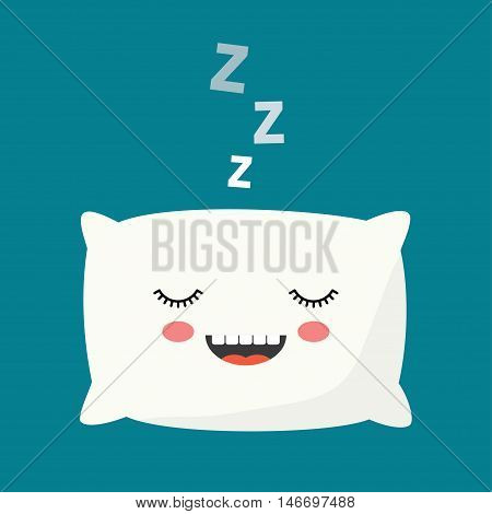 Pillow vector illustration. sleeping pillow. relax sleep icon. Pillow icon. Isolated on white background.