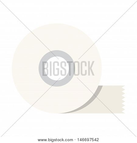 Scotch adhesive tape flat icon. vector illustration