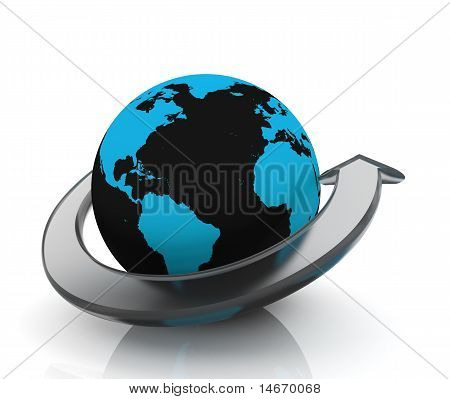 Earth With glass Arrow